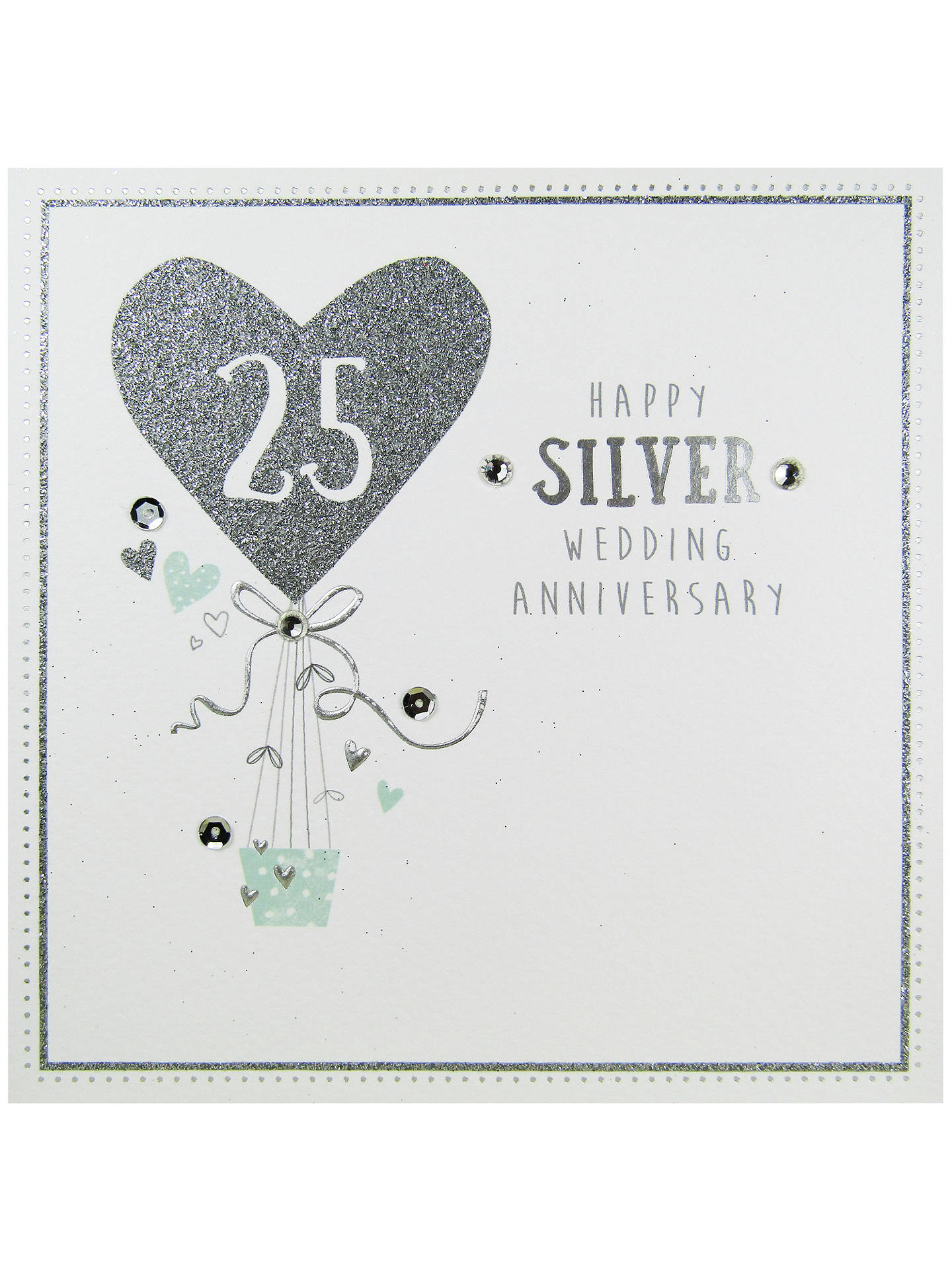 Carte blanche silver anniversary greeting card at john lewis partners buycarte blanche silver anniversary greeting card online at johnlewis m4hsunfo