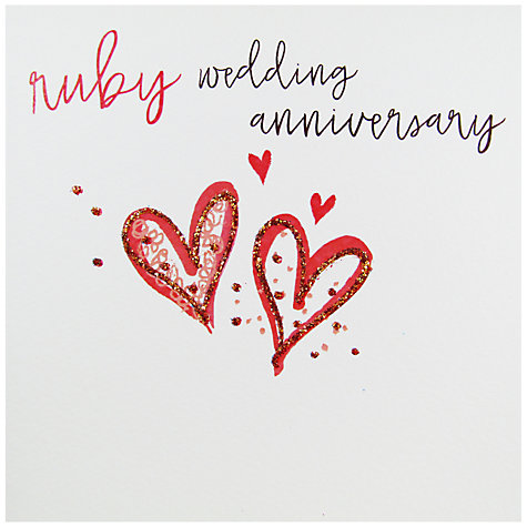 Buy Belly Button Designs Ruby Wedding Anniversary Greeting Card Online At Johnlewis