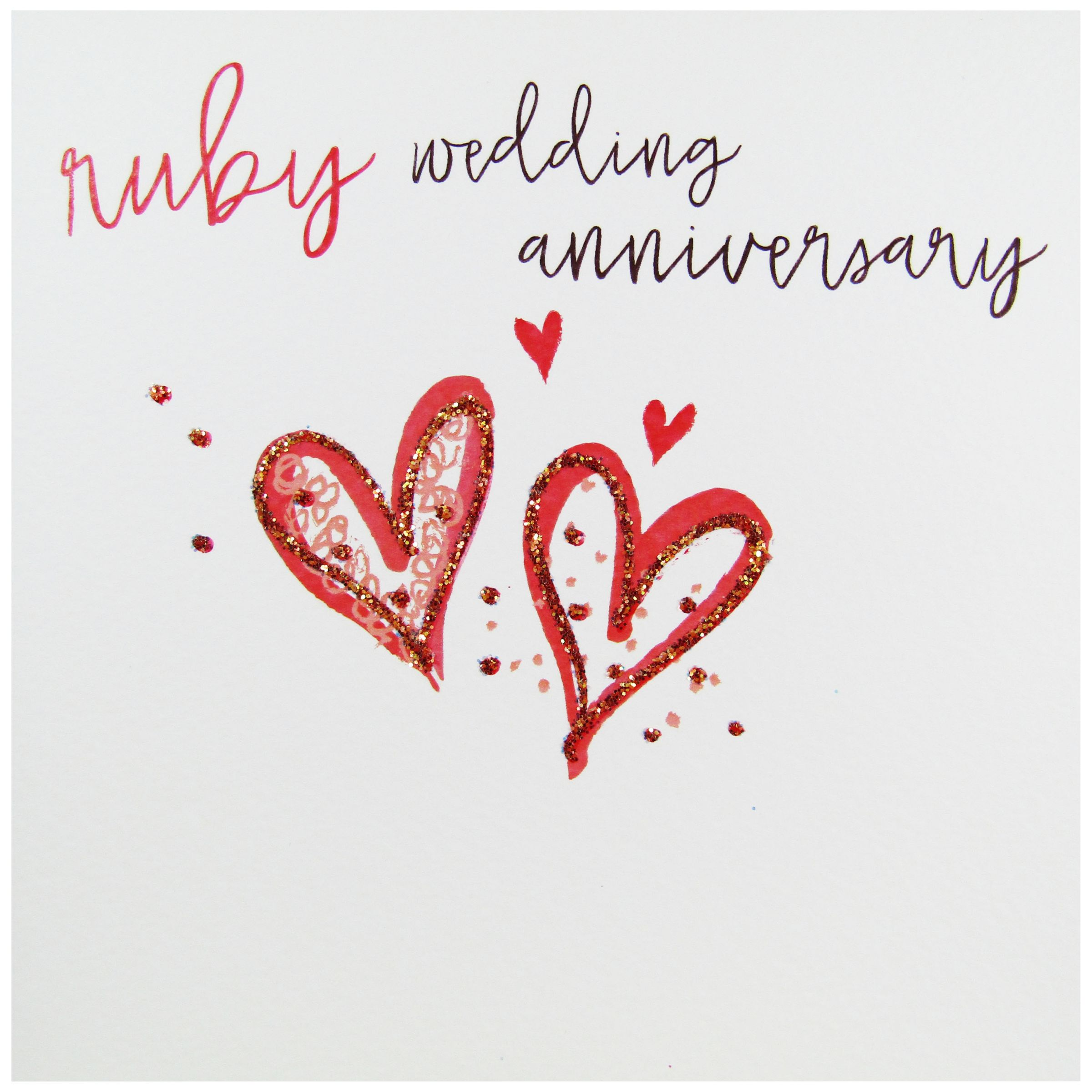Wedding Anniversary Gift Delivery Singapore : Buy Belly Button Designs Ruby Wedding Anniversary Greeting Card Online ...