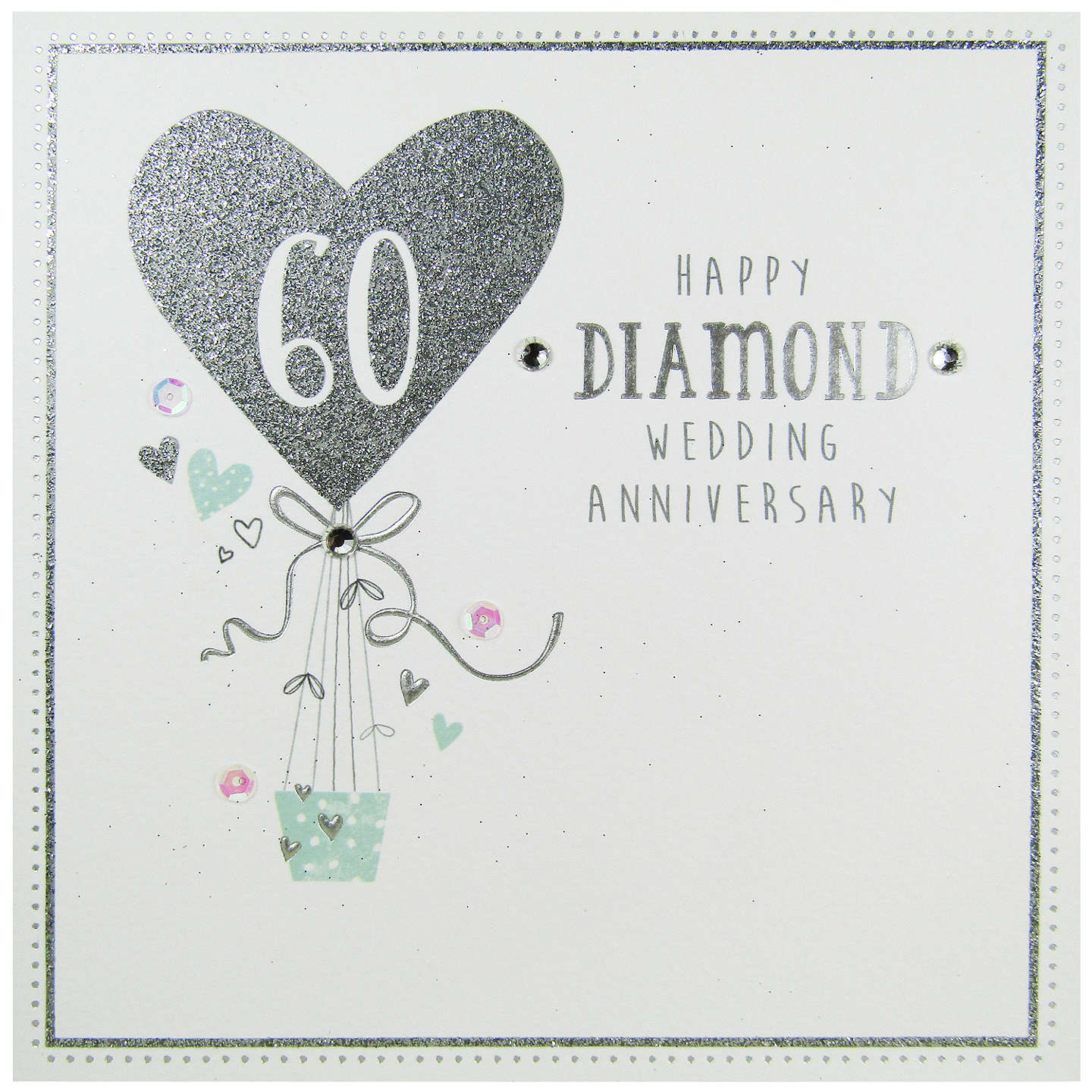 Carte blanche diamond anniversairy greeting card at john lewis buycarte blanche diamond anniversairy greeting card online at johnlewis m4hsunfo