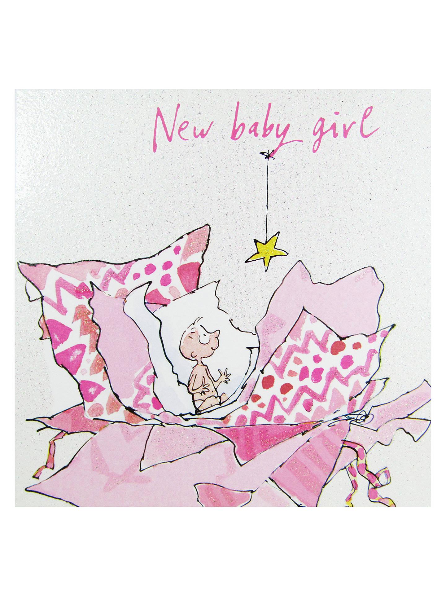 Woodmansterne New Baby Girl Greeting Card At John Lewis Partners