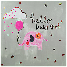 Buy Paper Salad Hello Baby Girl Card Online at johnlewis.com