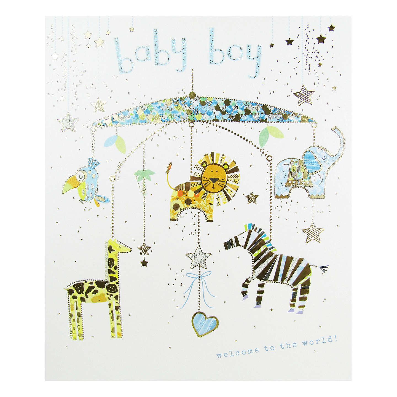 Woodmansterne Mobile Baby Boy Greeting Card At John Lewis