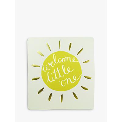 Caroline Gardner Welcome Little One Greeting Card