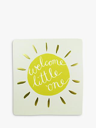 Caroline Gardner Welcome Little One Greeting Card