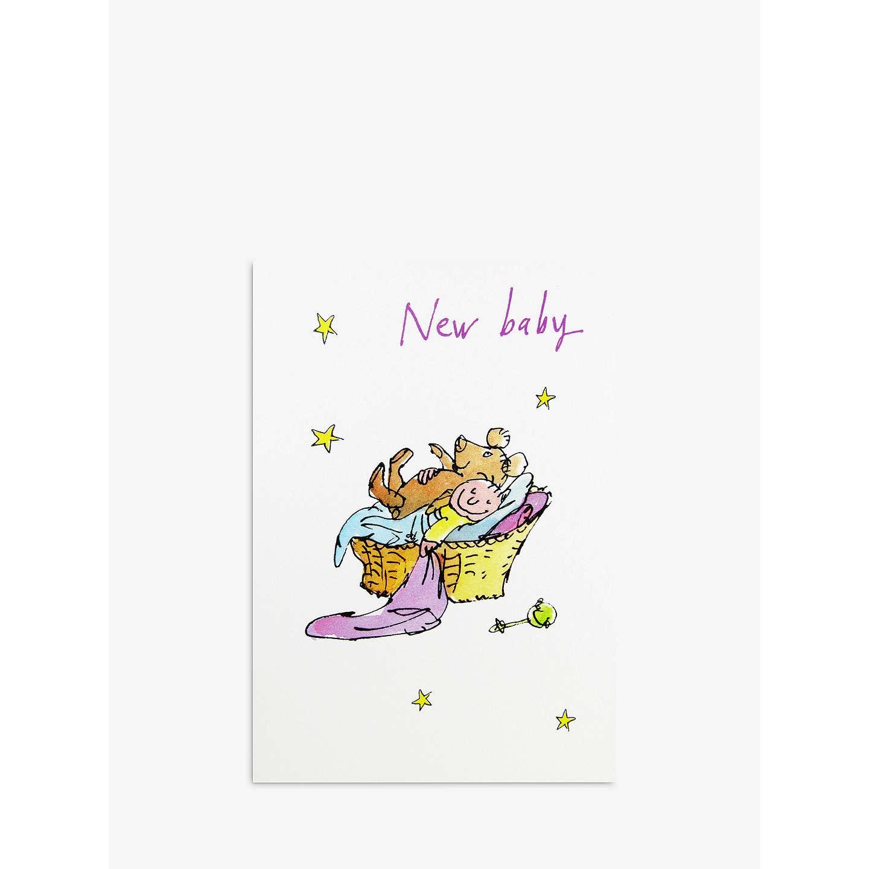 Woodmansterne New Baby Greeting Card At John Lewis