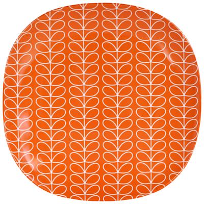 Orla Kiely Linear Stem Melamine Side Plate, Red