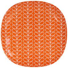 Buy Orla Kiely Linear Stem Melamine Side Plate, Red Online at johnlewis.com