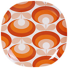 Buy Orla Kiely 70's Flower 26.7cm Melamine Dinner Plate, Red Online at johnlewis.com
