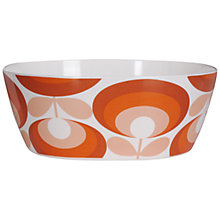 Buy Orla Kiely 70's Flower Melamine Salad Bowl, Red Online at johnlewis.com