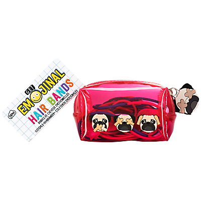 NPW Get Emojinal Hair Bands Pug Dog Mini Kit