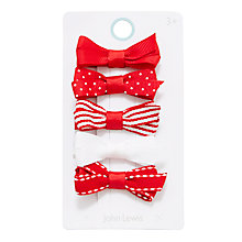Buy John Lewis Girls' Mixed Bow Clips, Pack of 5 Online at johnlewis.com