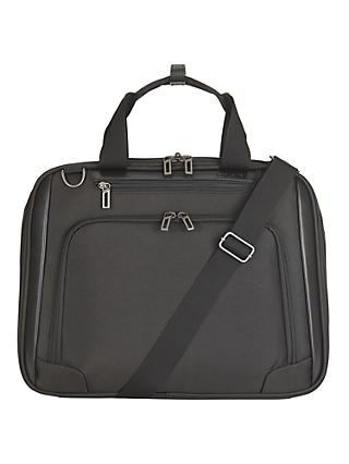 "John Lewis & Partners Raise 17"" Laptop Bag, Black"