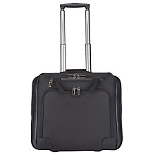 "Buy John Lewis Raise 17"" Laptop Mobile Wheeled Office, Black Online at johnlewis.com"