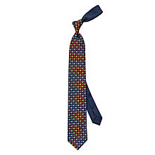 Buy Thomas Pink Parrot Print Silk Tie, Navy/Multi Online at johnlewis.com