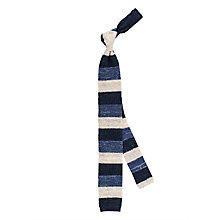 Buy Thomas Pink Gentleman Stripe Knitted Tie, Navy/White Online at johnlewis.com