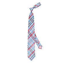 Buy Thomas Pink Padday Check Linen-Blend Tie, Blue/Multi Online at johnlewis.com