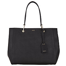 Buy DKNY Bryant Park Saffiano Leather Tote Bag, Black Online at johnlewis.com