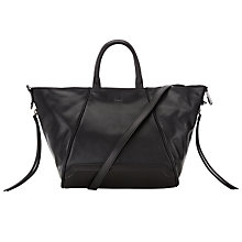 Buy DKNY Item Hybrid Leather Tote Bag, Black Online at johnlewis.com