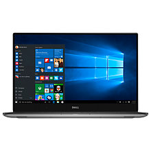 "Buy Dell XPS 15 Laptop, Intel Core i7, 16GB RAM, 512GB SSD, NVIDIA GTX 1050, 15.6"" 4K, Silver Online at johnlewis.com"