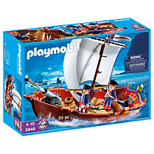 Buy Playmobil Pirates 5948 Soldiers Boat Online at johnlewis.com