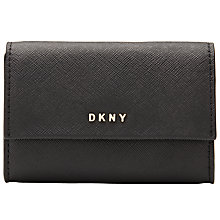 Buy DKNY Bryant Park Saffiano Leather Card Case, Black Online at johnlewis.com