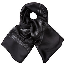 Buy Lauren Ralph Lauren Miruna Silk Scarf, Black Online at johnlewis.com