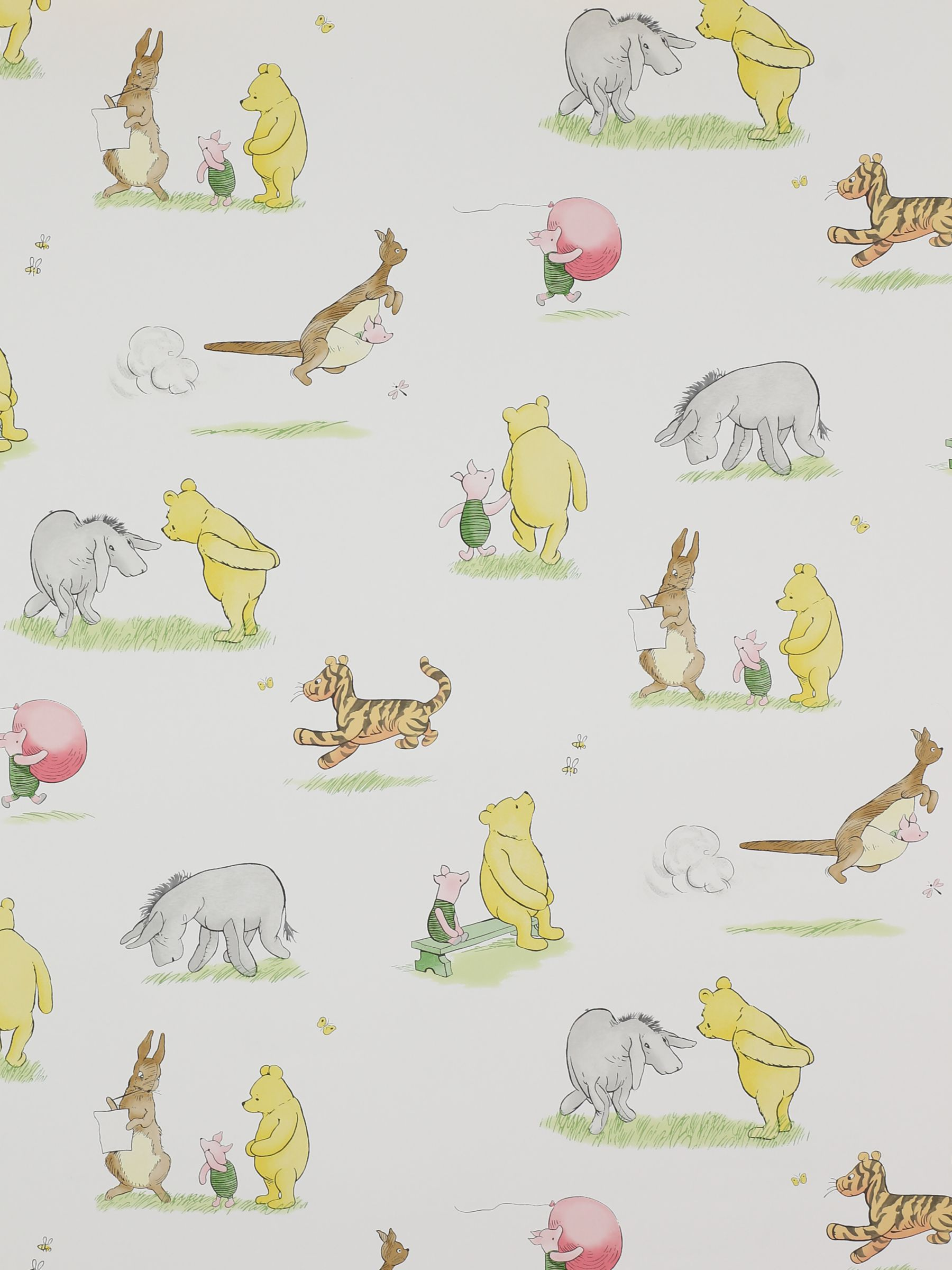 Jane Churchill Winnie The Pooh Friends Wallpaper At John Lewis
