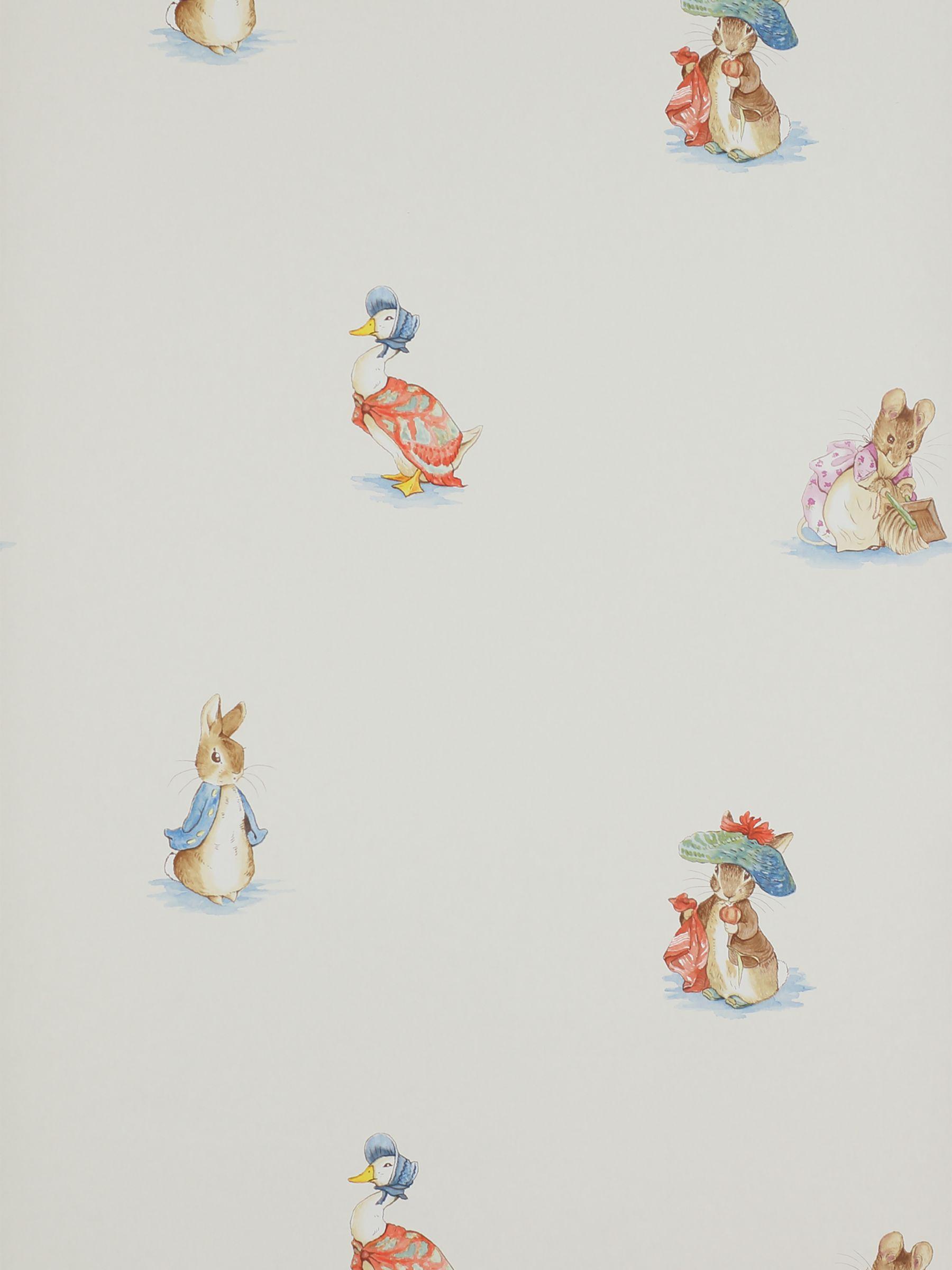 Jane Churchill Jane Churchill Beatrix Potter Wallpaper, Cream / Multi J067W-01