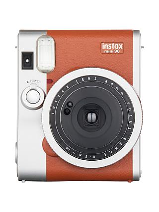 Fujifilm Instax Mini 90 Instant Camera with 10 Shots of Film, Built-In Flash & Hand Strap