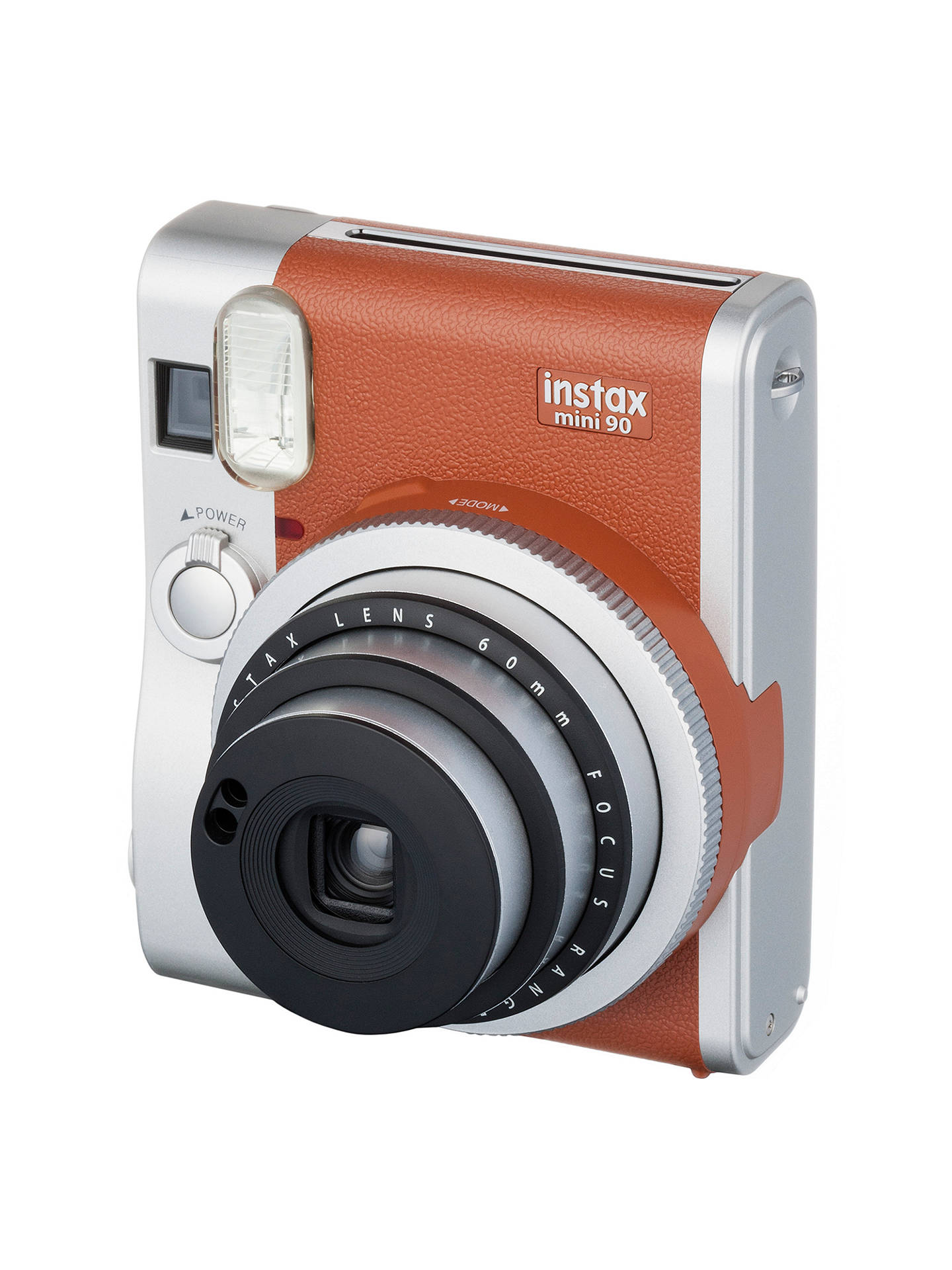 Buy Fujifilm Instax Mini 90 Instant Camera with 10 Shots of Film, Built-In Flash & Hand Strap, Tan Online at johnlewis.com