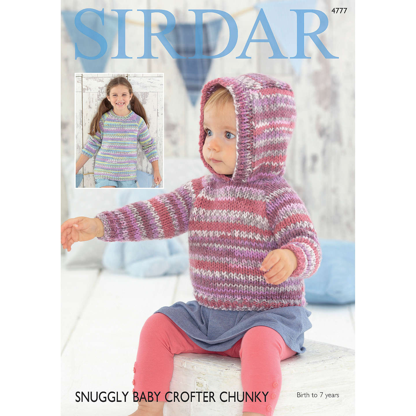 Sirdar Baby Crofter Chunky Jumper Knitting Pattern, 4777 at John Lewis
