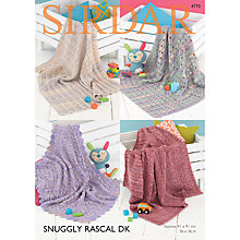 Buy Sirdar Snuggly Rascal DK Baby Blanket Knitting Pattern, 4770 Online at johnlewis.com