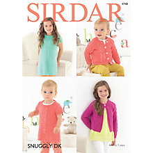 Buy Sirdar Snuggly DK Children's Dress And Cardigan Knitting Pattern, 4748 Online at johnlewis.com