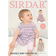 Buy Sirdar Snuggly Baby Crofter DK Dress Knitting Pattern, 4754 Online at johnlewis.com