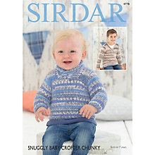 Buy Sirdar Snuggly Baby Crofter Chunky Jumper Knitting Pattern, 4778 Online at johnlewis.com