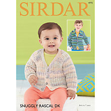 Buy Sirdar Snuggly Rascal DK Baby Cardigan Knitting Pattern, 4772 Online at johnlewis.com