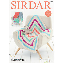 Buy Sirdar Snuggly DK Baby Blankets Knitting Pattern, 4749 Online at johnlewis.com
