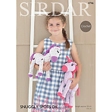 Buy Sirdar Snuggly Spots DK Children's Unicorn Toy Crochet Pattern, 4746 Online at johnlewis.com