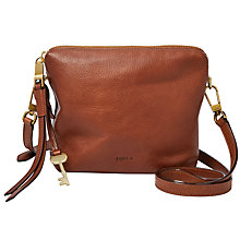 Buy Fossil Maya Leather Across Body Bag Online at johnlewis.com