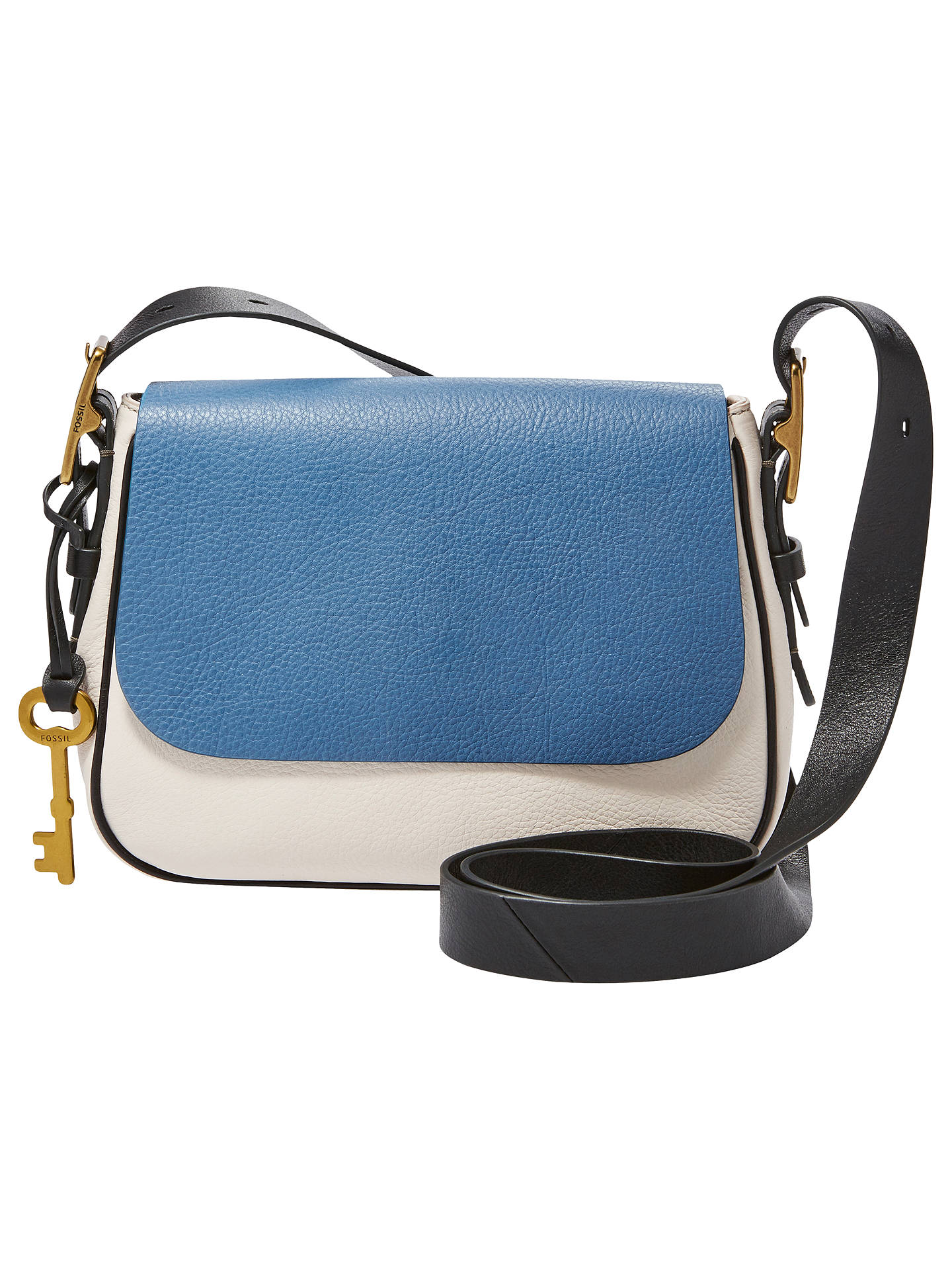 Fossil Harper Leather Small Cross Body Bag Cornflower Online At Johnlewis