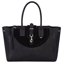 Buy Hill and Friends Lucky Leather Tote Bag, Liquorice Black Online at johnlewis.com
