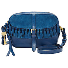 Buy Fossil Kendall Leather Across Body Bag, Tassel Marine Online at johnlewis.com