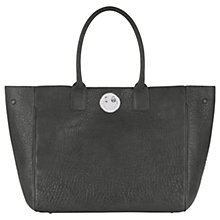 Buy Hill and Friends Happy Leather Tote Bag, Mouse Grey Online at johnlewis.com