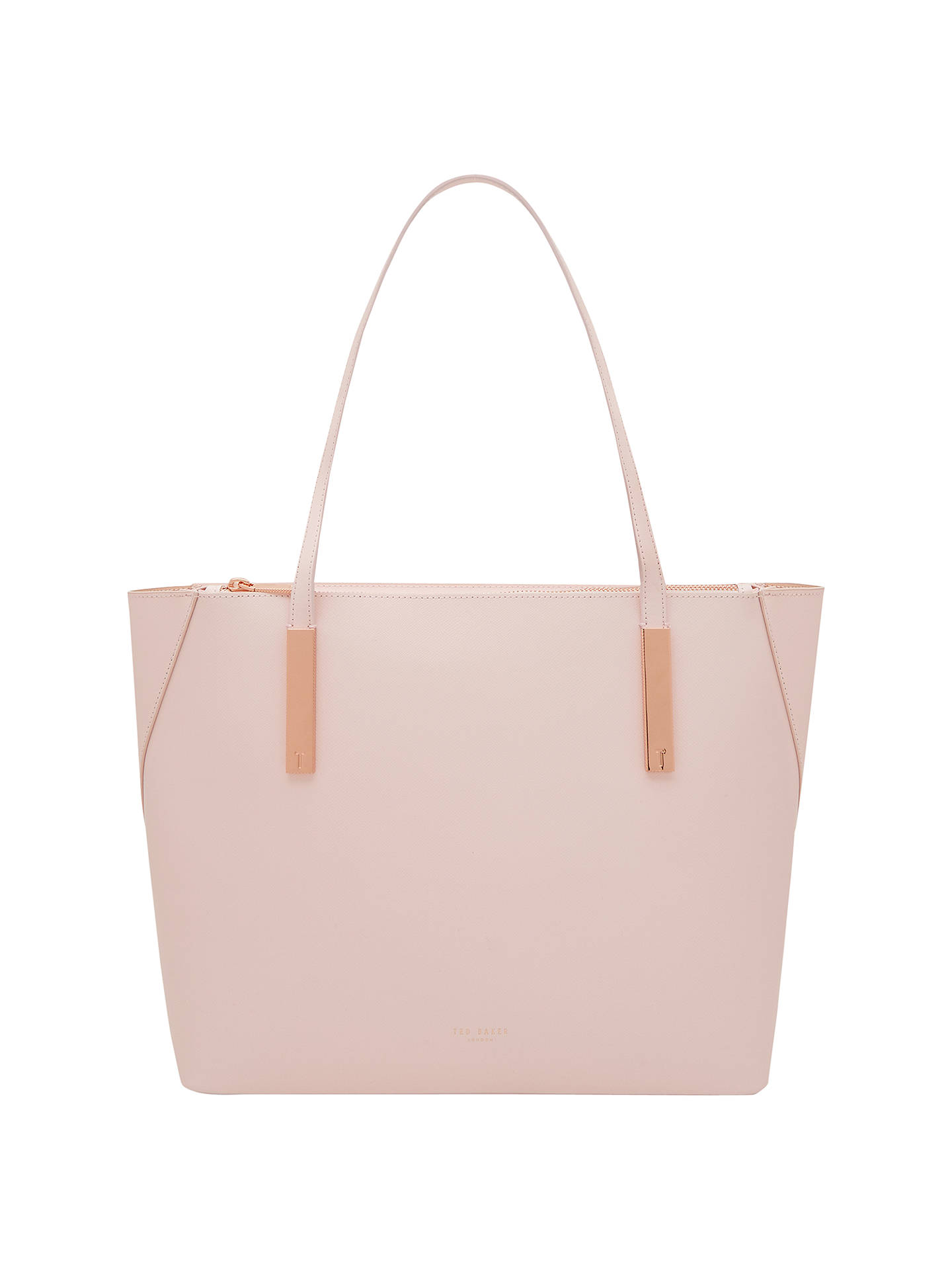 Ted Baker Poppey Leather Shopper Bag Baby Pink At John