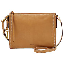 Buy Fossil Emma Leather East / West Across Body Bag Online at johnlewis.com