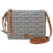 Buy Fossil Emma East / West Across Body Bag, Blue Print Online at johnlewis.com