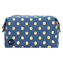 Buy Mi-Pac Wash Bag, Denim Polka Dot Online at johnlewis.com
