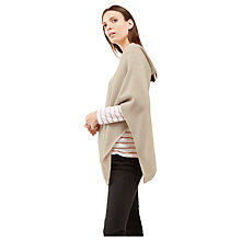 Buy Jigsaw Knitted Rib Border Poncho Online at johnlewis.com