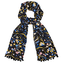 Buy L.K. Bennett Jasmine Silk Tassel Scarf, Multi Online at johnlewis.com